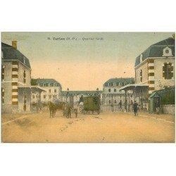 carte postale ancienne 65 TARBES. Quartier Soult 1929. Caserne de Militaires
