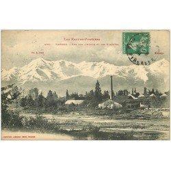 carte postale ancienne 65 TARBES. Usine Tuilerie sur l'Adour 1914