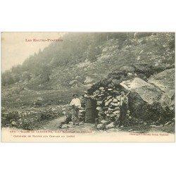 carte postale ancienne 65 VALLEE DE LESPONNE. Cabanne de Pâtres aux Cartals du Lhéco