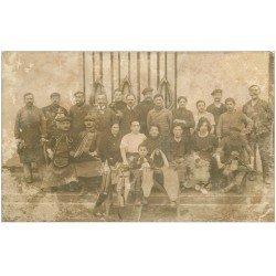carte postale ancienne Rare 65 LOURDES. Carte Photo Ouvriers Selliers vers 1910. Durand Photographe du Sacré-Coeur