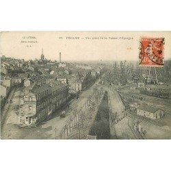 carte postale ancienne 76 FECAMP. Café Anglais pris de la Caisse d'Epargne 1910
