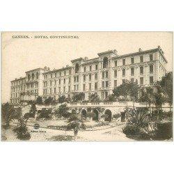 carte postale ancienne 06 CANNES. Hôtel Continental. Giletta
