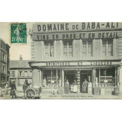 carte postale ancienne 76 FECAMP. Rocherieux. Domaine Baba-Ali rue Huet 1908 Vins et Spiritueux