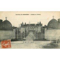 carte postale ancienne 76 CHATEAU DE MESNIERES. L'Entrée 1918