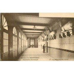 carte postale ancienne 76 CHATEAU DE MESNIERES. Galerie des Cerfs Institution Saint-Joseph 1922