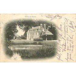 carte postale ancienne 76 CHATEAU DES HEBERTS. Yvetot 1904 animation