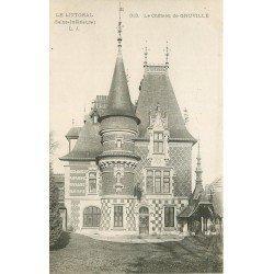 carte postale ancienne 76 GRUVILLE. Le Château