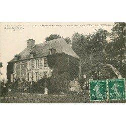 carte postale ancienne 76 GANZEVILLE. Le Château près Fécamp 1908