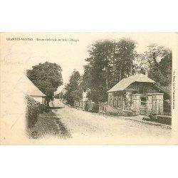 carte postale ancienne 76 GRANDES-VENTES. Route Nationale Paris Dieppe vers 1905