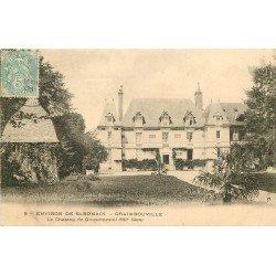 carte postale ancienne 76 GRAIMBOUVILLE. Le Château de Goustimesnil 1906