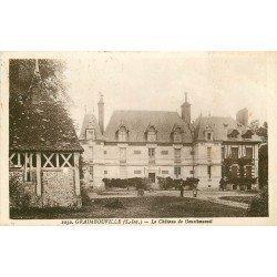 carte postale ancienne 76 GRAIMBOUVILLE. Le Château de Goustimesnil 1933
