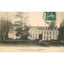 carte postale ancienne 76 GOMMERVILLE. Château de Filières 1908
