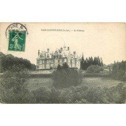carte postale ancienne 76 GAILLEFONTAINE. Le Château 1910
