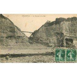 carte postale ancienne 76 GRAINVAL. La Descente à la Mer 1908