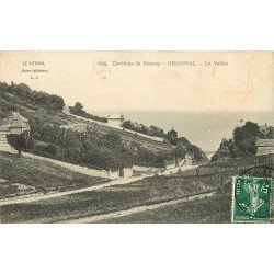 carte postale ancienne 76 GRAINVAL. Le Vallon 1909