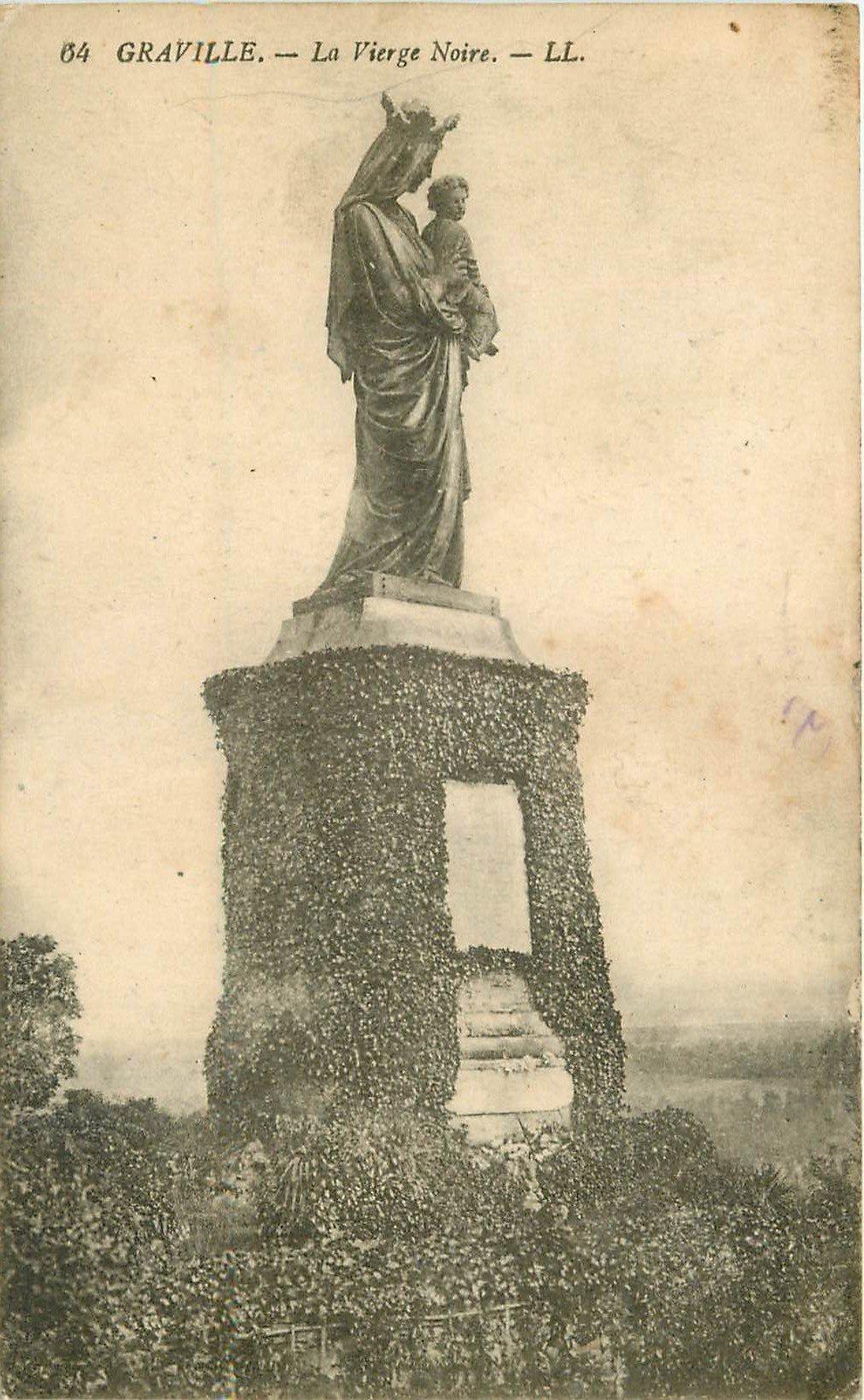carte postale ancienne 76 GRAVILLE. La Vierge Noire