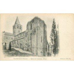 carte postale ancienne 76 GRAVILLE-SAINTE-HONORINE. Eglise Ancienne Abbaye