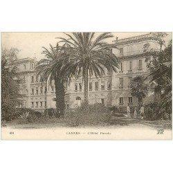 carte postale ancienne 06 CANNES. Hôtel Paradis