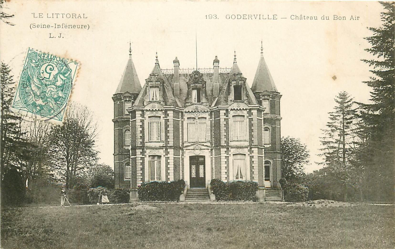 carte postale ancienne 76 GODERVILLE. Château du Bon Air 1905