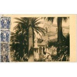 carte postale ancienne 06 CANNES. ILES LERINS. Abbaye et Jardin de Saint-Benoit 1944