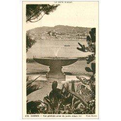 carte postale ancienne 06 CANNES. La Petite Fontaine Jardin Albert Ier 278