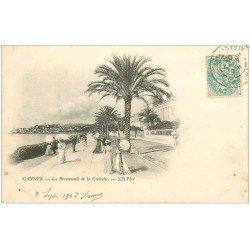 carte postale ancienne 06 CANNES. La Promenade de la Croisette 1903