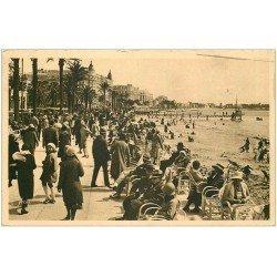 carte postale ancienne 06 CANNES. La Promenade de la Croisette 1932