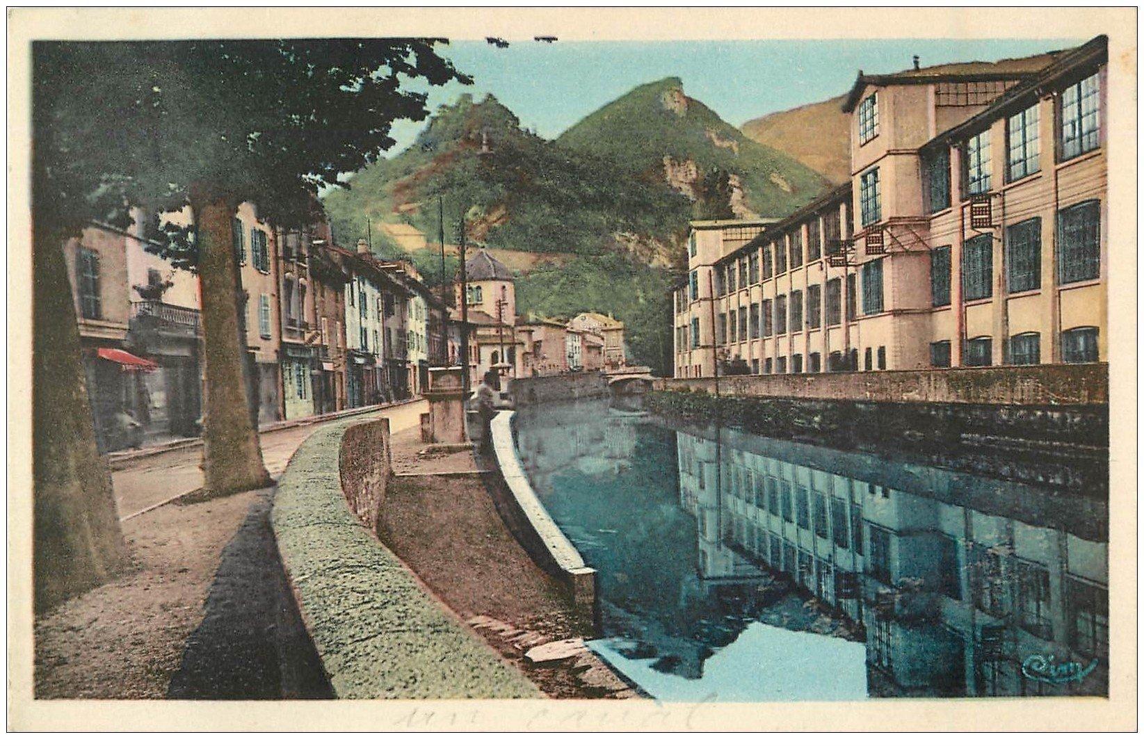 carte postale ancienne 01 SAINT-RAMBERT-EN-BUGEY. Quai de l'Albarine