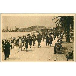 carte postale ancienne 06 CANNES. La Promenade de la Croisette 443