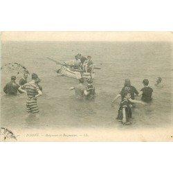 carte postale ancienne 76 DIEPPE. Baigneurs et Baigneuses 1904