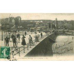 carte postale ancienne 76 DIEPPE. Boulevard Maritime vers Château
