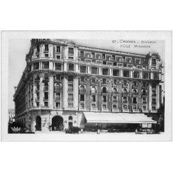 carte postale ancienne 06 CANNES. La Promenade de la Croisette Hôtel Miramar. Carte Photo émaollographie