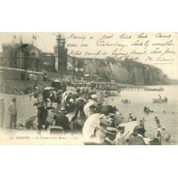 carte postale ancienne 76 DIEPPE. Casino et Bains n° 52 1908