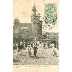 carte postale ancienne 76 DIEPPE. Terrasse du Casino 1906