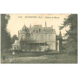 carte postale ancienne 01 SATHONAY. Château de Bernis