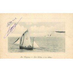 carte postale ancienne 76 LE TREPORT. La Pêche à la Sole 1912
