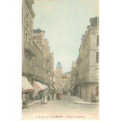 carte postale ancienne 76 LE TREPORT. Rue de la Batterie magasin de Cartes Postales