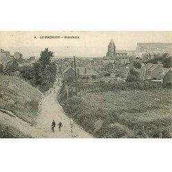 carte postale ancienne 76 LE TREPORT. Panorama. Paysan et Enfants 1907