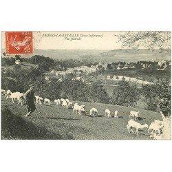 carte postale ancienne 76 ARQUES-LA-BATAILLE. Berger et ses Moutons 1908