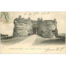carte postale ancienne 76 ARQUES-LA-BATAILLE. Château Entrée 1906