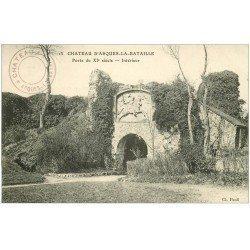 carte postale ancienne 76 ARQUES-LA-BATAILLE. Château intérieur 15