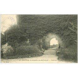 carte postale ancienne 76 ARQUES-LA-BATAILLE. Château intérieur 18