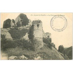 carte postale ancienne 76 ARQUES-LA-BATAILLE. Château le Donjon 283