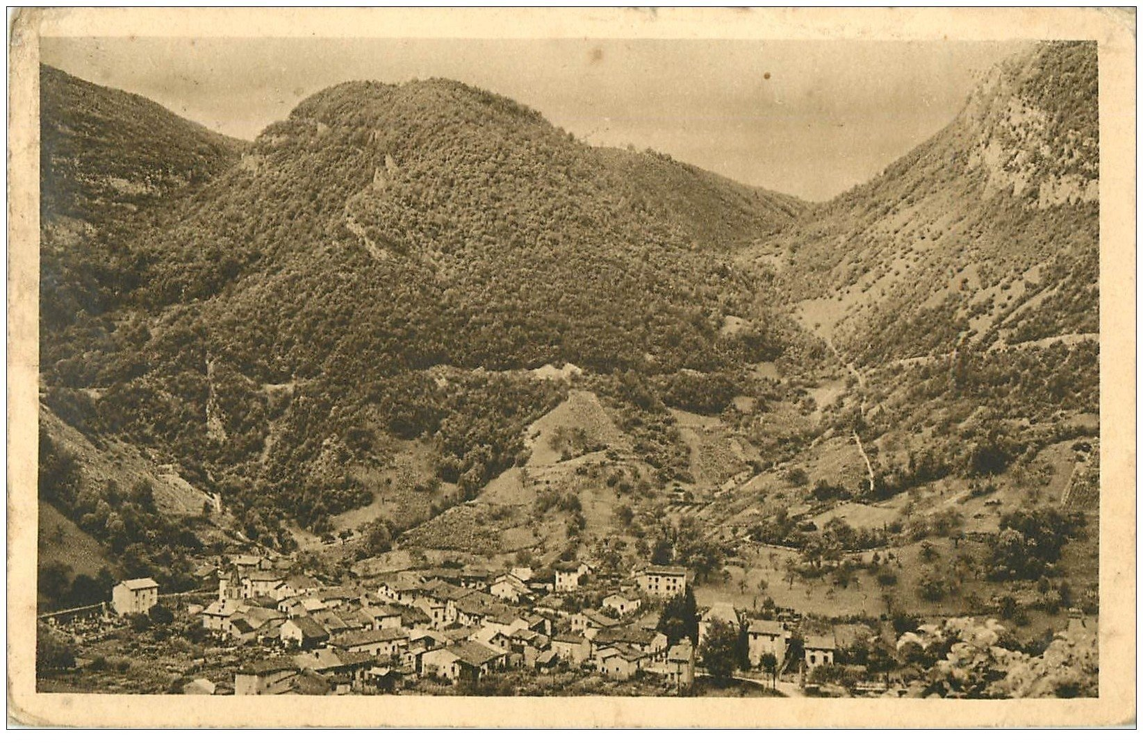 carte postale ancienne 01 TENAY 1938. Village de Chazey