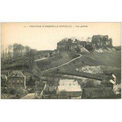carte postale ancienne 76 ARQUES-LA-BATAILLE. Château vue générale 12