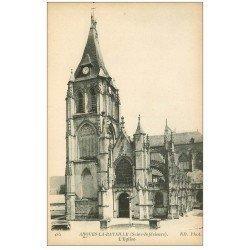 carte postale ancienne 76 ARQUES-LA-BATAILLE. Eglise 185