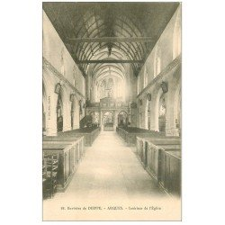 carte postale ancienne 76 ARQUES-LA-BATAILLE. Eglise intérieur 88