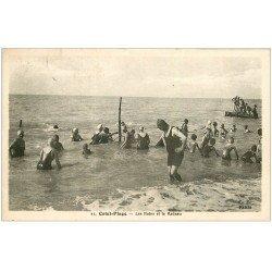 carte postale ancienne 76 CRIEL-SUR-MER. Bains et Radeau 1950