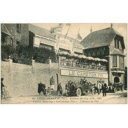 carte postale ancienne 76 CRIEL-SUR-MER. Casino Dancing Le Caneton Fin. Superbes voitures anciennes