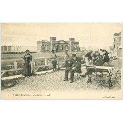 carte postale ancienne 76 CRIEL-SUR-MER. Casino et Terrasse d'un Café